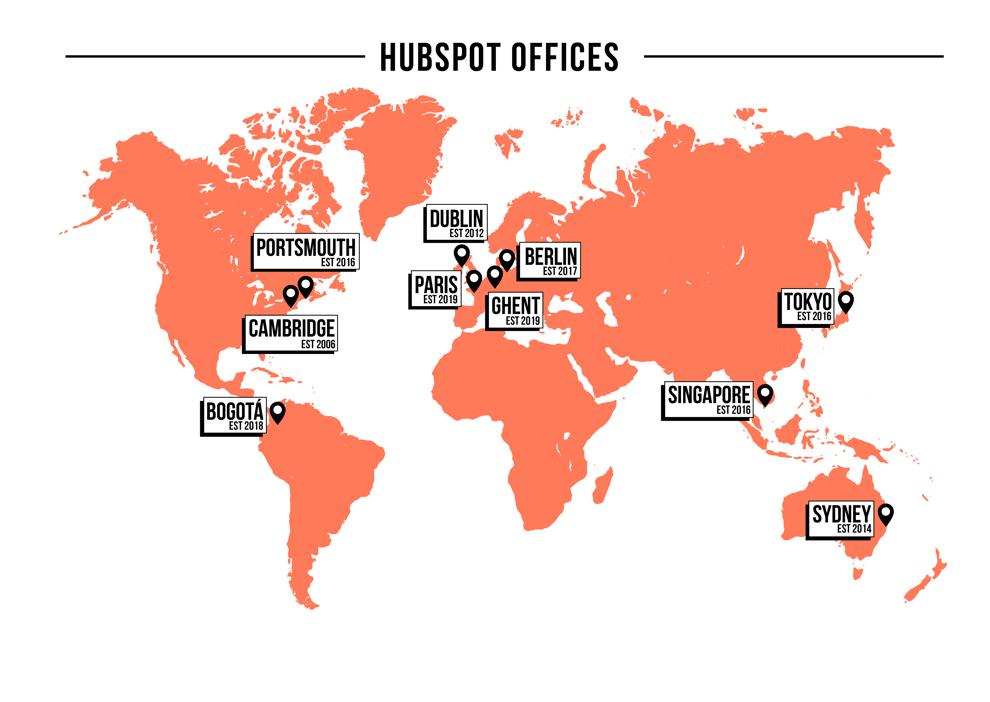 hubspot office map